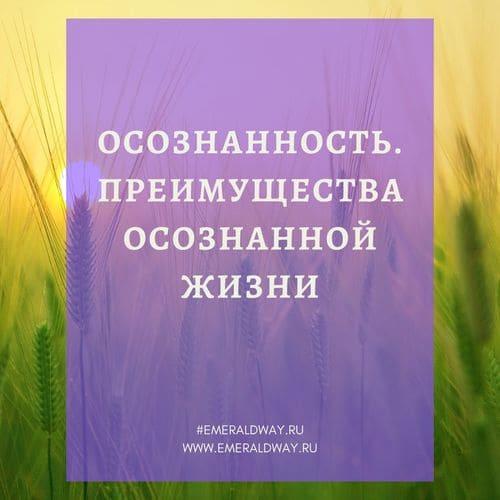 Осознанность, осознанная жизнь, преимущества осознанной жизни