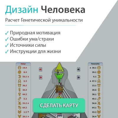 дизайн человека расчет