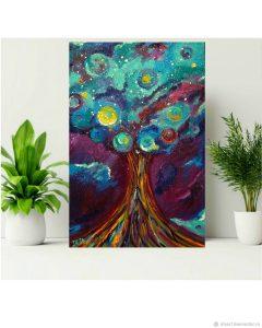 картина космос медитация галактическое дерево Iria Айриа